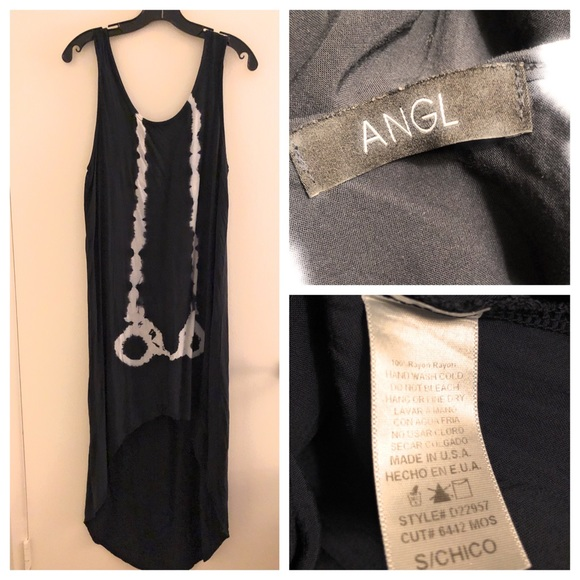 ANGL Dresses & Skirts - Angl Tie Dye High Low Maxi Dress